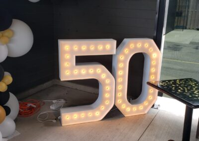 Marquee Numbers Rental Aurora