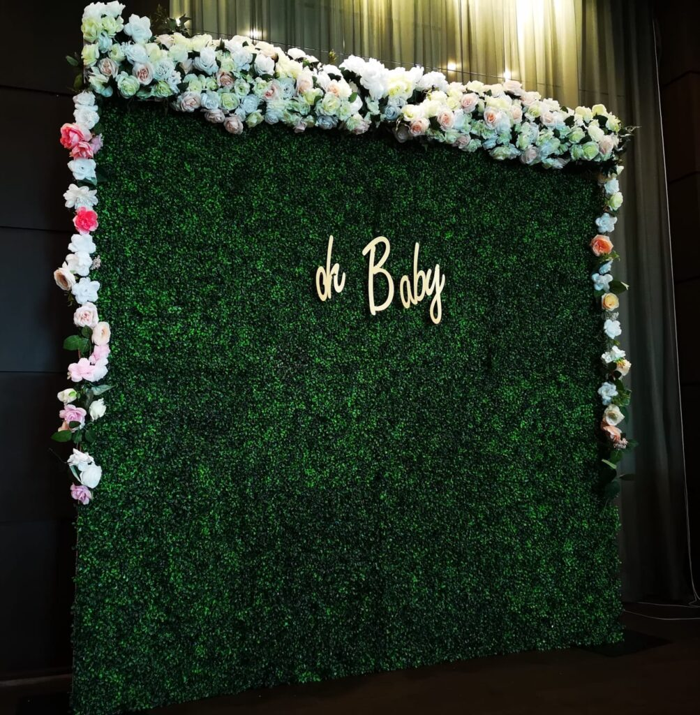 Flower Walls at Baby Showers in Orlando